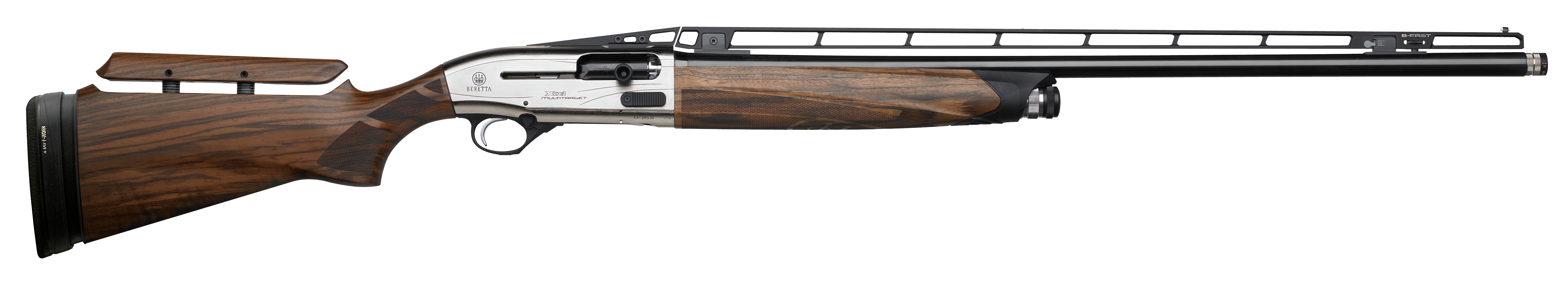 Beretta A400 Xcel Multitarget Semi-Auto Shotgun 3'' 12 Gauge 32'' Silver Anodized - Walnut Adjustable