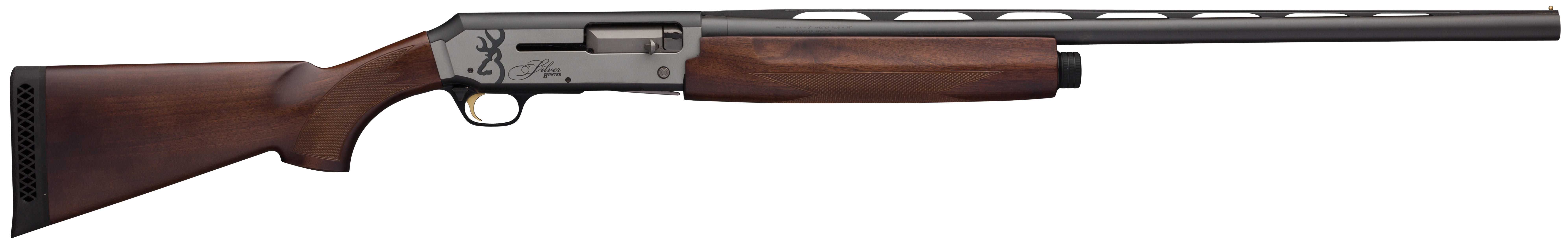Browning Silver Hunter Semi-Auto Shotgun 3'' 20 Gauge 28'' Black/Silver Aluminum Alloy - Turkish Walnut