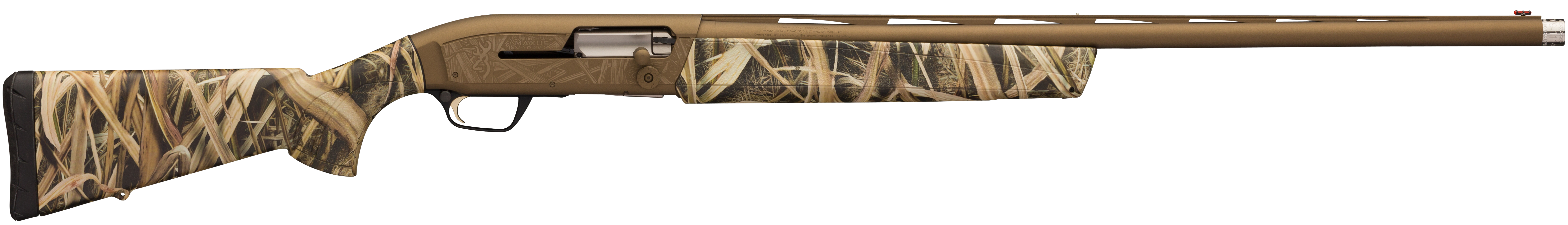 Browning Maxus Wicked Wing Semi-Auto Shotgun 3.5'' 12 Gauge 26'' Burnt Bronze Cerakote - Synthetic - Mossy Oak Shadow Grass Blades
