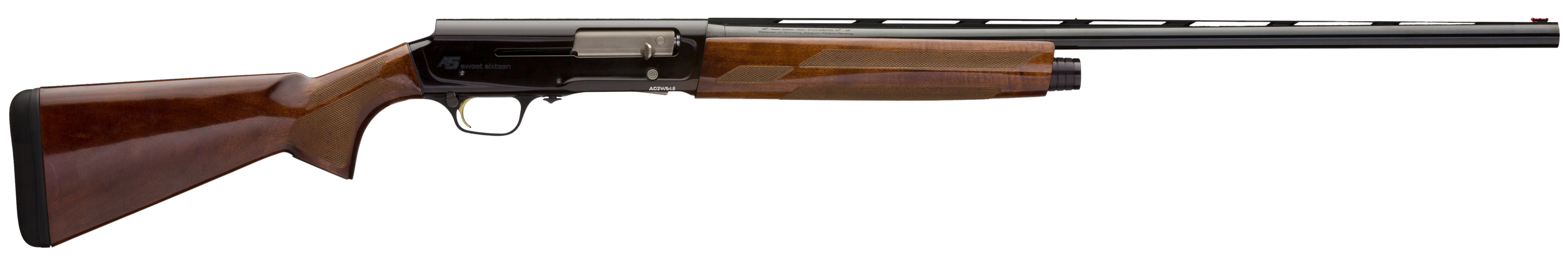 Browning A5 Sweet Sixteen Semi-Auto Shotgun 2.75'' 16 Gauge 28'' Black Aluminum Alloy - Walnut High Gloss
