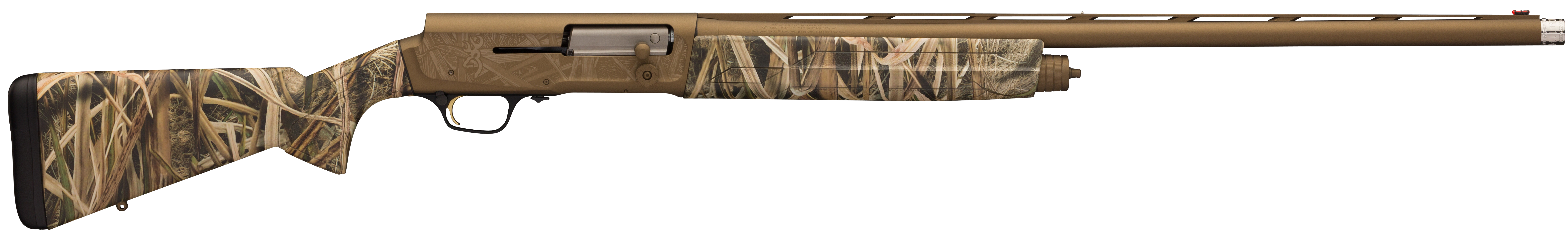 Browning A5 Wicked Wing Semi-Auto Shotgun 3.5'' 12 Gauge 28'' Burnt Bronze Cerakote - Synthetic - Mossy Oak Shadow Grass Blades