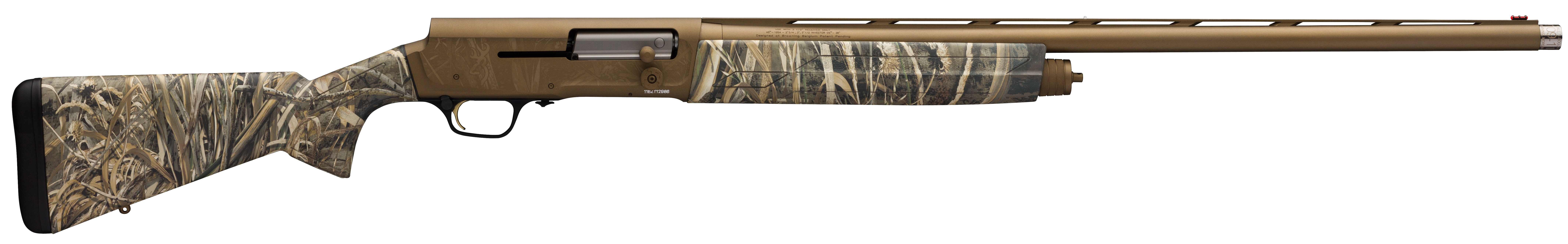 Browning A5 Wicked Wing Semi-Auto Shotgun 3.5'' 12 Gauge 28'' Burnt Bronze Cerakote - Synthetic - Realtree Max-5