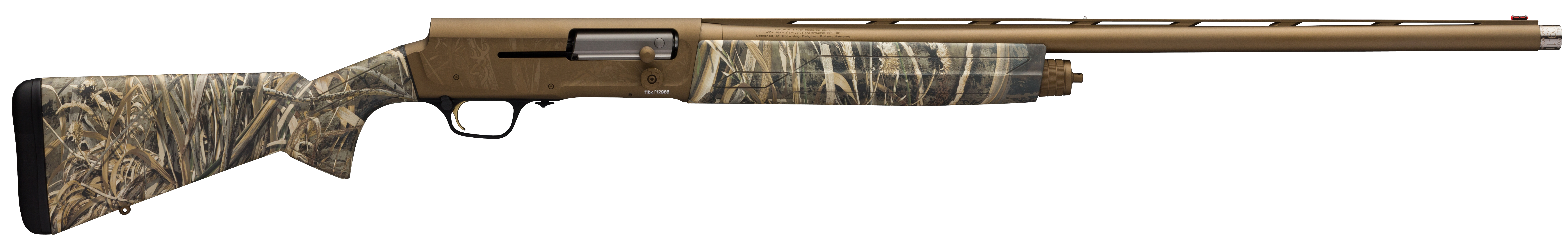 Browning A5 Wicked Wing Semi-Auto Shotgun 3.5'' 12 Gauge 26'' Burnt Bronze Cerakote - Synthetic - Realtree Max-5