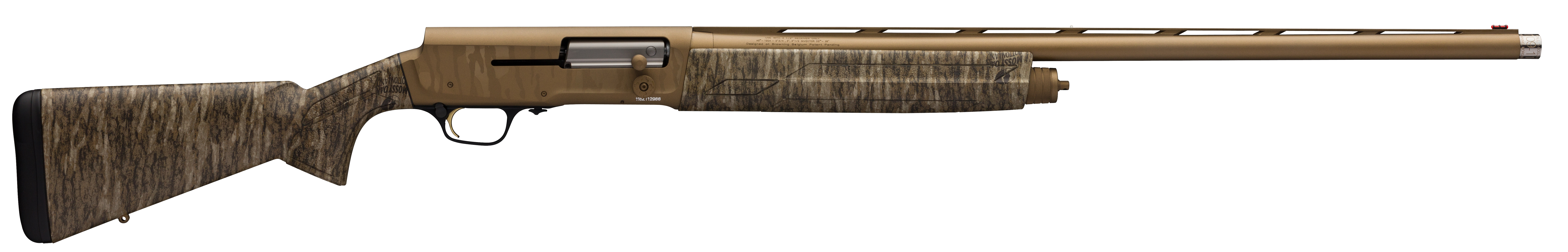 Browning A5 Wicked Wing Semi-Auto Shotgun 3.5'' 12 Gauge 28'' Burnt Bronze Cerakote - Synthetic - Mossy Oak Bottomland