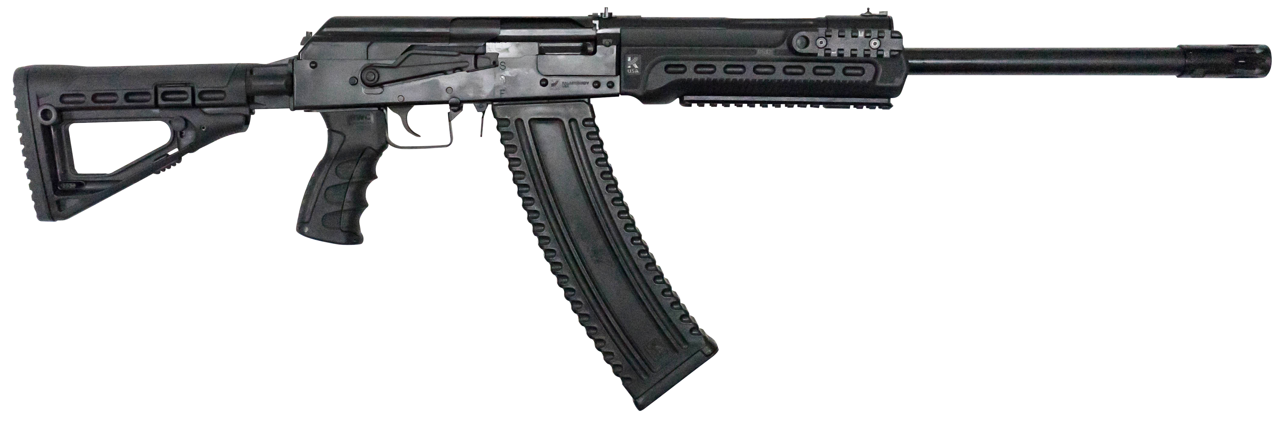 Kalashnikov Arms KS12T Semi-Auto Shotgun 3'' 12 Gauge 18.5'' Black - Synthetic 6-Position Adjustable w/Pistol Grip - Black