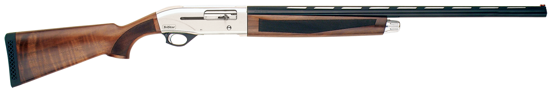 TriStar Viper G2 Silver Semi-Auto Shotgun 2.75'' 28 Gauge 28'' Silver Steel - Turkish Walnut