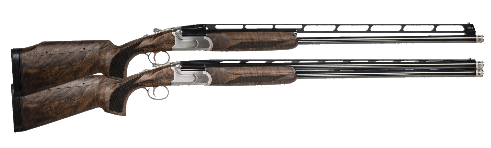 CZ-USA All American Trap Combo Over/Under Shotgun 3'' 12 Gauge 32'' Stainless Steel - Turkish Walnut