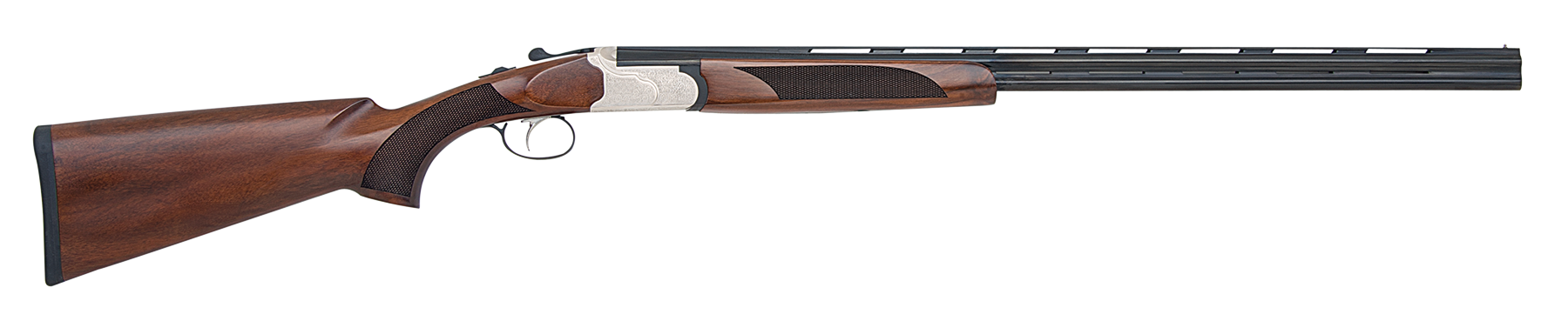 Mossberg Silver Reserve II Field Over/Under Shotgun 3'' 410 Bore 26'' Silver Engraved - Black Walnut
