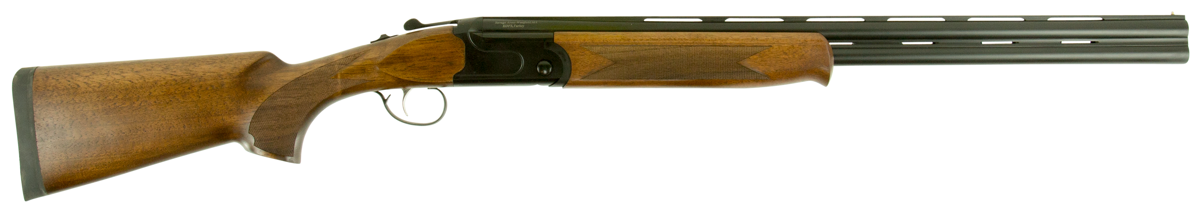 Stevens 555 Compact Over/Under Shotgun 2.75'' 28 Gauge 24'' Black Aluminum Alloy - Turkish Walnut