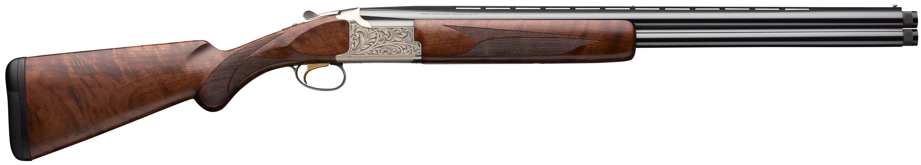 Browning Citori Feather Lightning Over/Under 3'' 12 Gauge 26'' Silver Nitride Steel/Black Barrel - Black Walnut