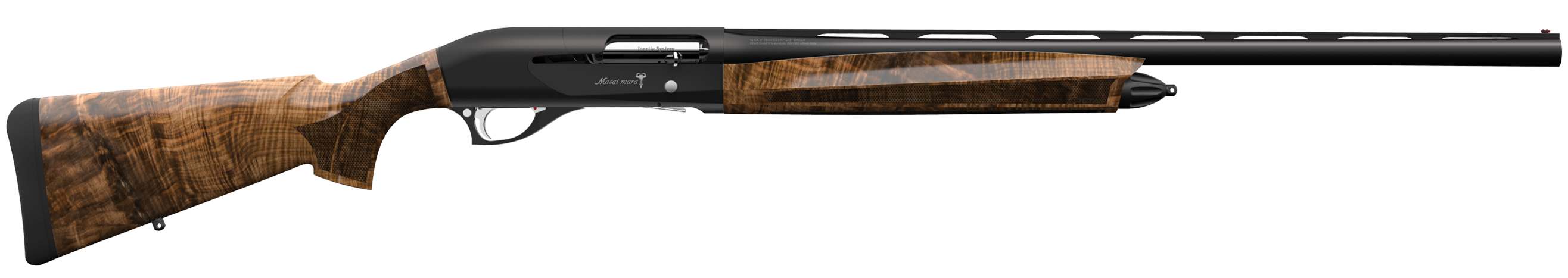 Retay Masai Mara Semi-Auto 3'' 12 Gauge 26'' Blued High Polish - Turkish Walnut