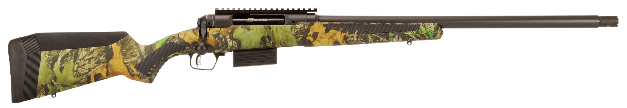 Savage 220 Turkey Bolt Action 3'' 20 Gauge 22'' Black Matte Steel - Sythentic - Accustock Mossy Oak Obsession