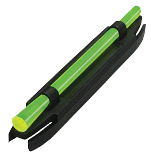 Hiviz M200 M-Series Shotgun Sight Ultra  - Narrow Magnetic/Snap-On Fiber Optic Front Green/Red Black