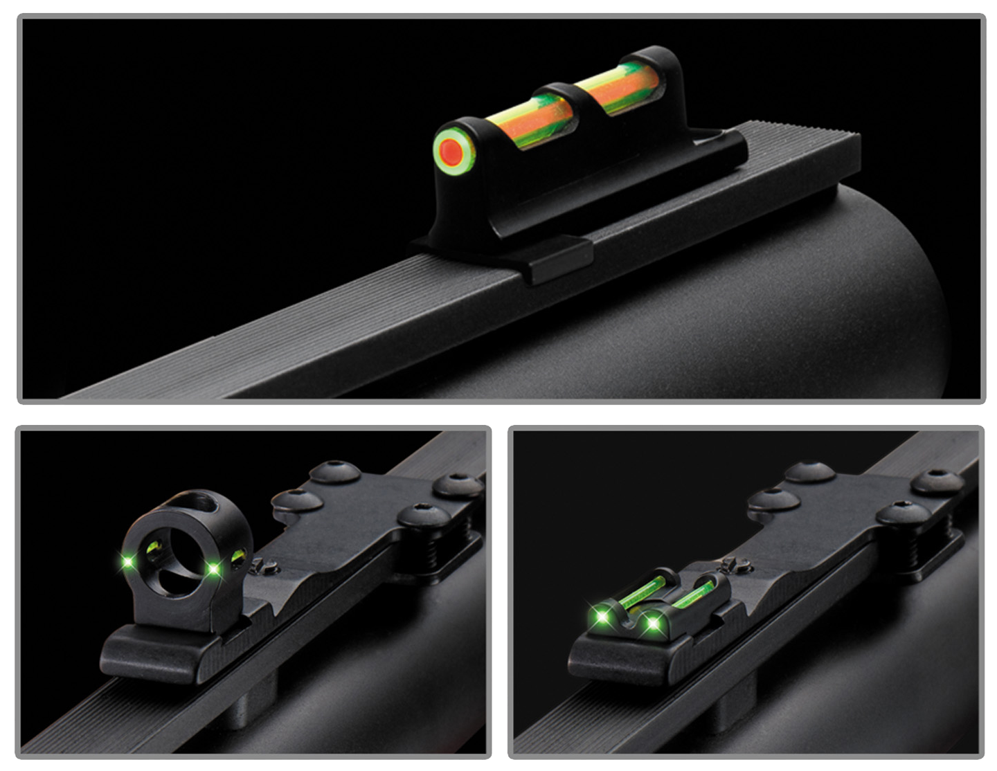 Truglo TG950XD Tru-Bead Turkey Universal Shotgun Sight - Dual-Color with Ghost Ring Shotgun Fiber Optic Green/Red Front/Green Rear Black