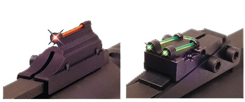 Truglo TG944C Pro Magnum Gobble-Dot Shotgun Sight - with 6mm Vent Rib Fiber Optic Red Front/Green Rear Black