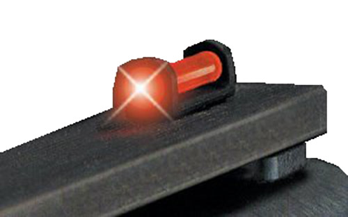 Truglo TG947UR Long Bead Universal Shotgun Sight - w/Vent & 6-48 Base Rib Fiber Optic Red Black