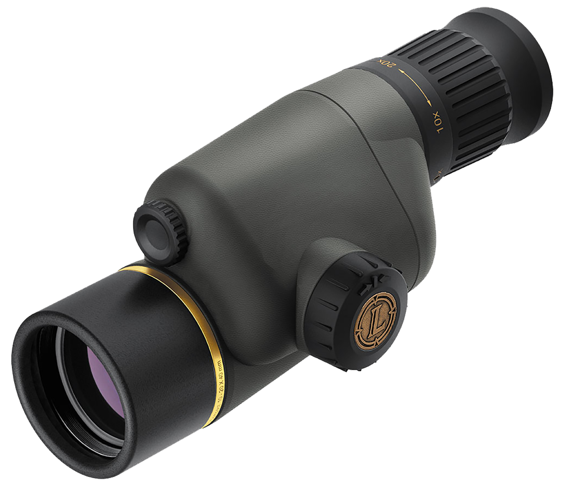 Leupold Gold Ring 10-20x40mm Compact Straight Spotting Scope Shadow Gray