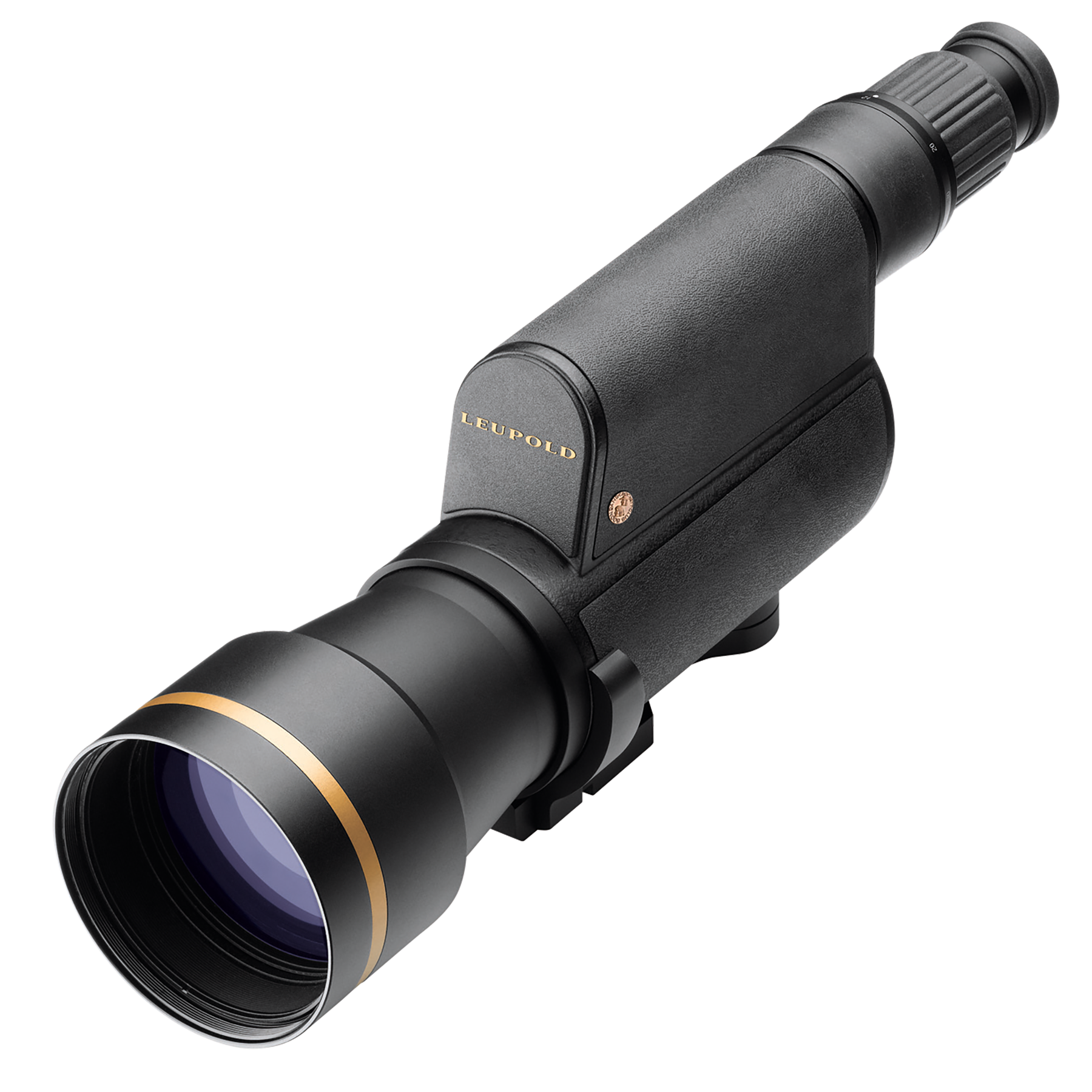 Leupold Gold Ring 20-60x80mm Straight Spotting Scope with Impact Reticle Titanium Gray