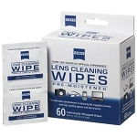 Zeiss Boxed Lense Wipes - 60Ct