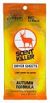 Wildlife Research Center Scent Scent Killer Autumn Formula Dryer Sheets